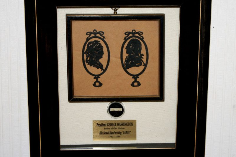 GEORGE-WASHINGTON-Signed-in-his-hand-Autograph-LARGE-Antique-SILHOUETTE-COA