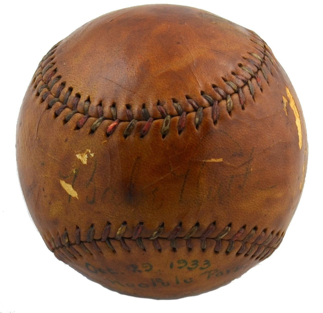 1933 Babe Ruth Single Signed Autographed American League Baseball PSA DNA COA