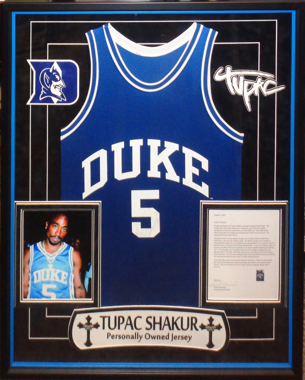Tupac Shakur Personally Owned Jersey