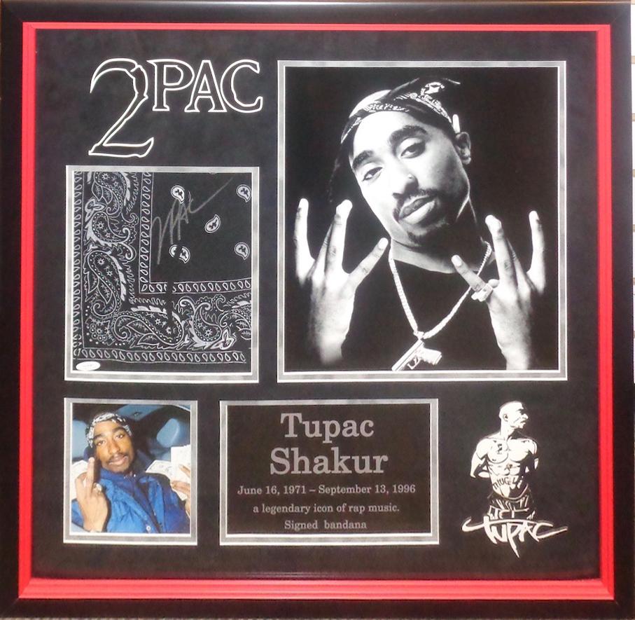 Tupac Shakur Signed And Personally Owned Bandana
