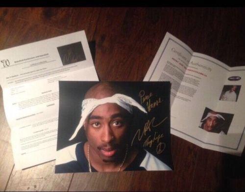 Tupac Signed Bandana Picture