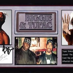 Tupac Shakur and Biggie Smalls Signed On One Notepad