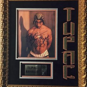 Color photo signed by Tupac Shakur